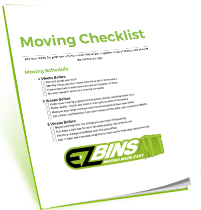 EZ Bins Moving Checklist